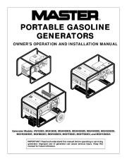 Master HWI MGH 3000 MGH MGH 4000DI MGH MGH5000DI Generator Owners Manual page 1