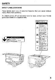 Honda Generator ES6500 Owners Manual page 7