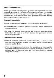 Honda Generator ES6500 Owners Manual page 8