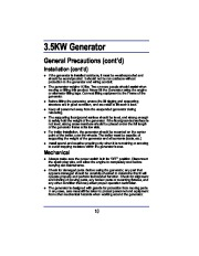 All Power America 3500 APG3008 Generator Owners Manual page 10