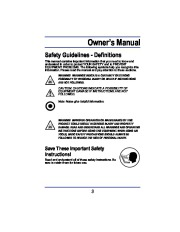All Power America 3500 APG3008 Generator Owners Manual page 3