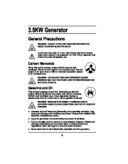 All Power America 3500 APG3008 Generator Owners Manual page 4