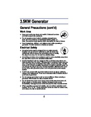 All Power America 3500 APG3008 Generator Owners Manual page 6
