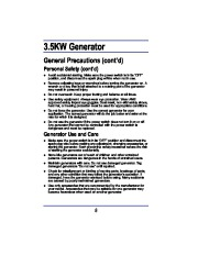 All Power America 3500 APG3008 Generator Owners Manual page 8