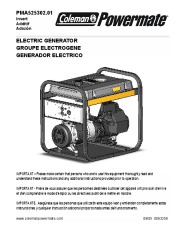 Coleman Powermate PMA525302 Generator Owners Manual page 1