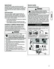 Husqvarna 1055GN Generator Owners Manual, 2007,2008,2009,2010,2011,2012 page 9