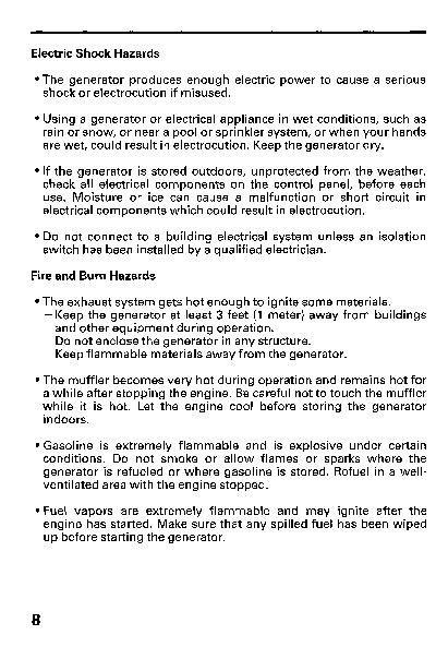 honda generator em5000sx owners manual rh home appliance filemanual com EM5000SX Model Honda EM5000SX Specifications