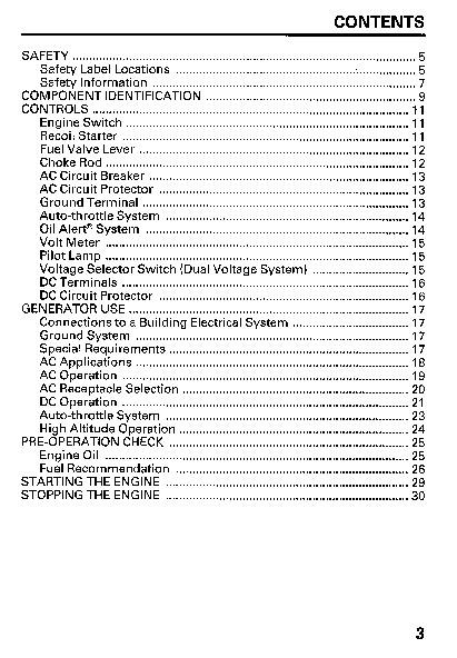 honda generator em5000sx owners manual rh home appliance filemanual com EM5000SX Generator Nissan Altima Repair Manual