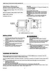 Honeywell Solid State Ignitor Spark Generator Q652B Owners Manual page 2
