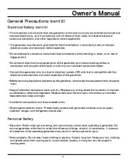 All Power America 2000 APG3010 Generator Owners Manual page 9