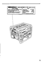 Honda Generator EB5000S Owners Manual page 7