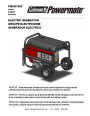 Coleman Powermate PM0497000 Generator Owners Manual page 1