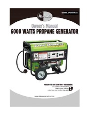All Power America 6000 APG3560CSA Generator Owners Manual page 1