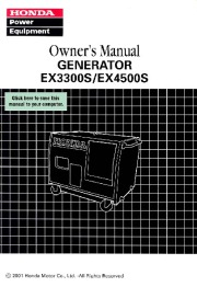 Honda Generator EX3300S EX4500S Owners Manual page 1