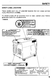 Honda Generator EX3300S EX4500S Owners Manual page 7