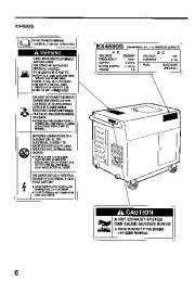 Honda Generator EX3300S EX4500S Owners Manual page 8