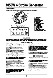 All Power America 1500 APG3006 Generator Owners Manual page 3