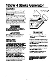 All Power America 1500 APG3006 Generator Owners Manual page 4