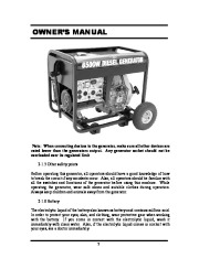 All Power America 6500 APG3201 Generator Owners Manual page 7