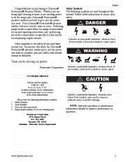 Coleman Powermate PW0872400 Generator Service Manual page 3