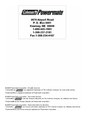 Coleman Powermate PW0872400 Generator Service Manual page 32