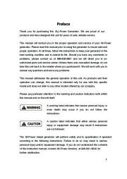 All Power America 6500 APG3202 Silent Diesel Generator Owners Manual page 2