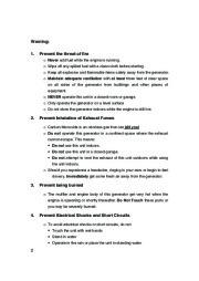 All Power America 6500 APG3202 Silent Diesel Generator Owners Manual page 3