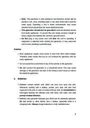 All Power America 6500 APG3202 Silent Diesel Generator Owners Manual page 4