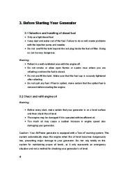 All Power America 6500 APG3202 Silent Diesel Generator Owners Manual page 9