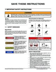 Honeywell HW4000L HW5500L HW 5600C HW6200 HW6850 HW7500EL Generator Service Manual page 5