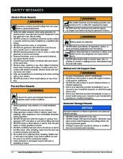 Honeywell HW4000L HW5500L HW 5600C HW6200 HW6850 HW7500EL Generator Service Manual page 6