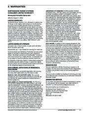 Honeywell HW4000L HW5500L HW 5600C HW6200 HW6850 HW7500EL Generator Service Manual page 7