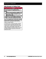 Honeywell HW5500 HW5500E Generator Owners Manual page 18