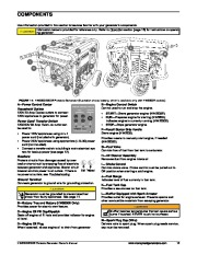 Honeywell HW5500 HW5500E Generator Owners Manual page 19