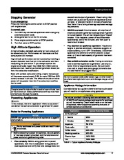 Honeywell HW5500 HW5500E Generator Owners Manual page 23