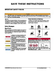 Honeywell HW5500 HW5500E Generator Owners Manual page 7