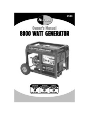 All Power America 8000 APG3005 Generator Owners Manual page 1