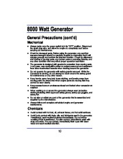 All Power America 8000 APG3005 Generator Owners Manual page 10