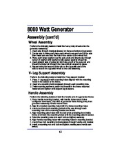 All Power America 8000 APG3005 Generator Owners Manual page 12