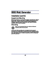All Power America 8000 APG3005 Generator Owners Manual page 14