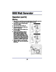 All Power America 8000 APG3005 Generator Owners Manual page 16