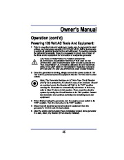All Power America 8000 APG3005 Generator Owners Manual page 17