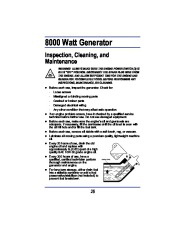 All Power America 8000 APG3005 Generator Owners Manual page 18