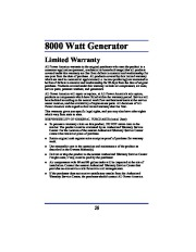 All Power America 8000 APG3005 Generator Owners Manual page 20