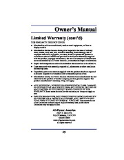 All Power America 8000 APG3005 Generator Owners Manual page 21