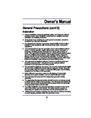 All Power America 8000 APG3005 Generator Owners Manual page 9