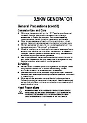 All Power America 3500 APG3002 Generator With Mobility Kit Owners Manual page 8