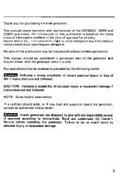 Honda Generator EM1600X EM1800X EM2200X Owners Manual page 3
